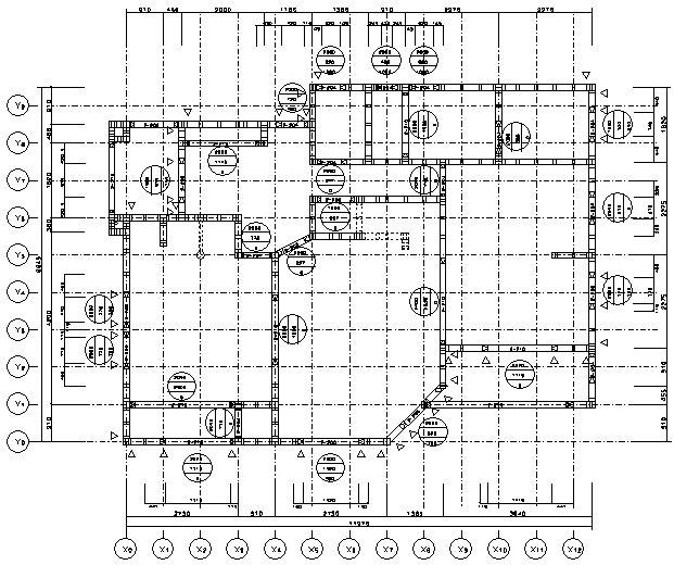 壁枠組平面図